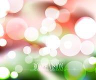 För abstrakt design för bakgrund bokehvision för vektor färgrik Royaltyfria Foton