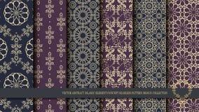 För abstrakt islamiskt design för modell beståndsdelbegrepp för vektor sömlös Royaltyfri Foto