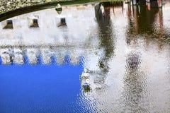 För abstrakt Torre Belem för reflexion torn portugisiskt symbol Reflecti Royaltyfria Bilder
