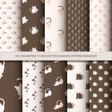 För abstrakt uppsättning för design för modell chocokattunge för vektor sömlös Royaltyfri Fotografi