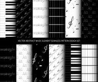 För abstrakt uppsättning för design för modell musikbeståndsdel för vektor sömlös Fotografering för Bildbyråer