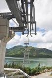 För Acoss för kabelbil struktur hav Arkivfoto