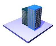 för administrationsserie för byggnader chain tillförsel Arkivbild