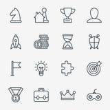 För affär symboler för rolig lek eller gamification stock illustrationer