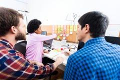 För affärsfolk för bakre sikt kontor för kontor funktionsdugligt Arkivbilder