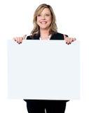 för affärsholding för affischtavla blank professionell Arkivbilder