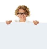 för affärsholding för affischtavla blank professionell Royaltyfri Foto