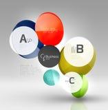 För affärsInfographics för cirkel modern mall design Royaltyfri Bild