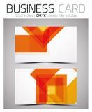 För affärskort för vektor CMYK mall för design Royaltyfri Bild