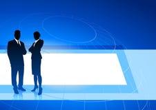 för affärsledare för bakgrund blåa internet vektor illustrationer