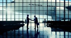 För affärslopp för internationell flygplats begrepp för terminal för flygplats Royaltyfri Foto