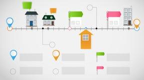 För affärsmall för Timeline infographic vektor Arkivbilder