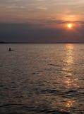 för aftonhav för höst baltisk solnedgång Royaltyfri Foto