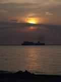 för aftonhav för höst baltisk solnedgång Royaltyfria Foton