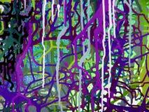 För akrylfärg för abstrakt konst målning på kanfas av färgrik bakgrund Arkivbild