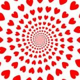 För aktivitethjärta för design röd bakgrund. Valentindaglodisar Royaltyfria Bilder