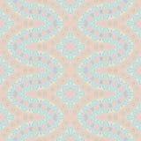 För akvamarinlilor för sömlösa prydnader rosa guling Royaltyfri Fotografi
