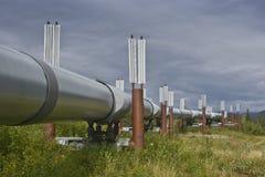 för alaska oljepipeline arkivfoton