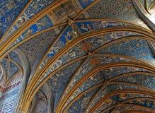 För Albi för UNESCO-arvlokal transepts domkyrka Arkivfoton