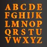 För alfabetuppsättning för vektor 3D bokstäver med lutning fyller Royaltyfri Illustrationer