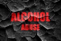 För alkoholmissbruk för Grunge sprucket tecken royaltyfri fotografi