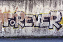 för alltid grafitti Royaltyfri Bild