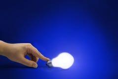 för alltid lampa Fotografering för Bildbyråer