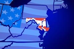 För Amerika för Maryland medicine doktorFörenta staterna översikt flagga Royaltyfria Bilder