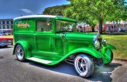 för amerikanFord Model A för 30-tal klassisk skåpbil leverans Royaltyfria Bilder