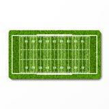 För amerikanfotboll för grönt gräs fält Fotografering för Bildbyråer