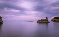 För `-amourthe för kanal D kanal av förälskelse i Korfu Grekland royaltyfri foto