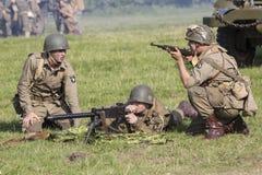 För andra soldater världskrig för amerikan Royaltyfria Bilder