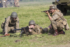 För andra soldater världskrig för amerikan Fotografering för Bildbyråer