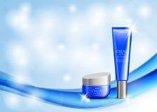 För annonsdesign för skönhet kosmetisk mall vektor illustrationer