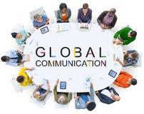 För anslutningskonversation för global kommunikation begrepp Fotografering för Bildbyråer