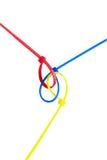 för anslutningskugghjul för begrepp 3d mekanism Arkivfoton