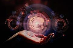 för anslutningskugghjul för begrepp 3d mekanism Fotografering för Bildbyråer