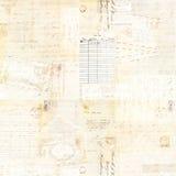 För antikvitetbrunt för tappning Grungy bakgrund för vattenfärg för collage med text Arkivbild