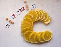 för apelsinstil för c nytt sunt vitamin royaltyfria foton