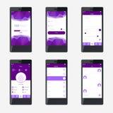 För applikationmanöverenhet för mall mobil design Royaltyfria Bilder