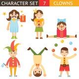 För April Joke Fun Boys Girls för clown 1 mall för begrepp för design för tillbehör för fastställt symbol för symbol tecken stilf Arkivfoton