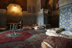 för arkitektur moroccan inomhus Arkivbild
