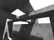 För arkitekturkonstruktion för mörker konkret bakgrund för abstrakt begrepp Arkivbilder