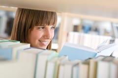 för arkivdeltagare för bok lycklig kvinna för study Royaltyfri Fotografi