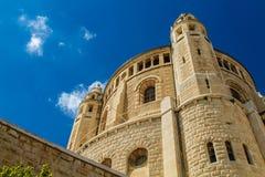för armenisk jerusalem stadsdormition för abbey gammal fjärdedel Arkivbilder