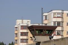 för arrestjailhouse för 2 bakgrund watch för torn Royaltyfri Bild