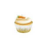 För arrot för påsk Ñ muffin med marsipanmoroten Royaltyfri Fotografi