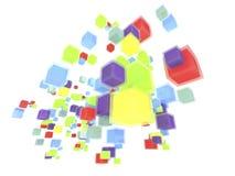 för askflyg för bakgrund 3d lampa Arkivbild