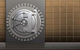 för askstål för metall 3d dörr för bank Royaltyfri Bild