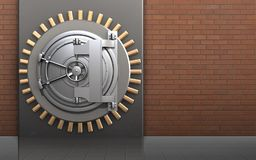 för askstål för metall 3d dörr för bank vektor illustrationer
